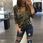 Women Camouflage Sweatshirt Hoodies Pullovers Female Long Sleeve Tops