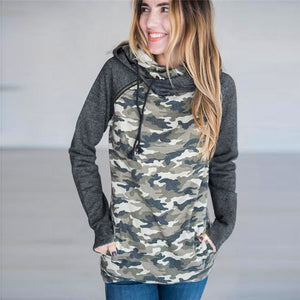 Women's Sweatshirt With Print Pullover Camouflage Female Hoodies