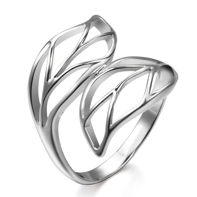 Leaves Shaped Finger Ring For Women