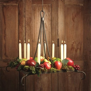 Wrought Iron Manzanita Candle Chandelier, Square