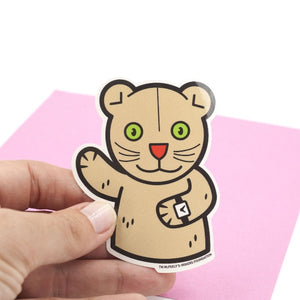 Daniel Striped Tiger Puppet Large Vinyl Sticker