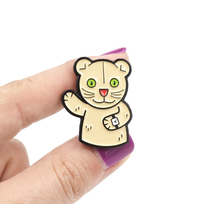 Daniel Striped Tiger Puppet Enamel Pin
