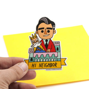 HI Neighbor Large Vinyl Sticker