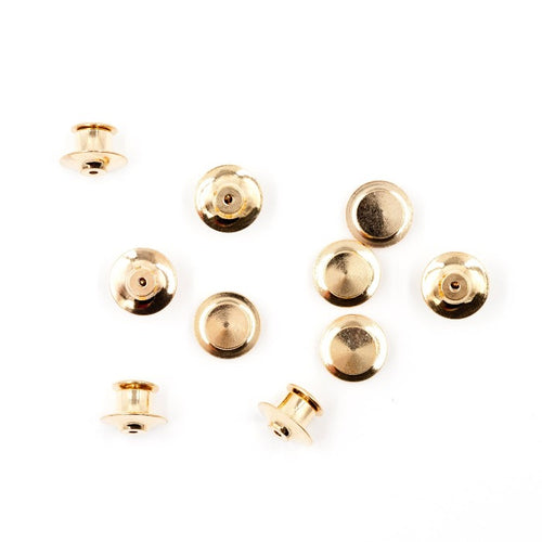 Gold or Silver Locking Pin Clutches