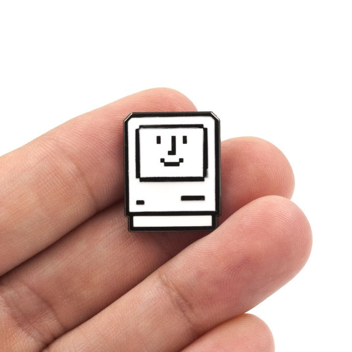 Happy Macintosh Enamel Pin