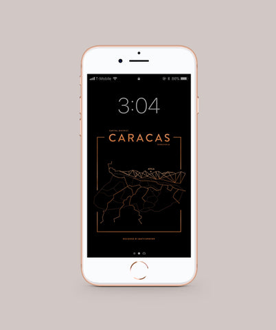Caracas Foil Map Wallpaper for you Phone