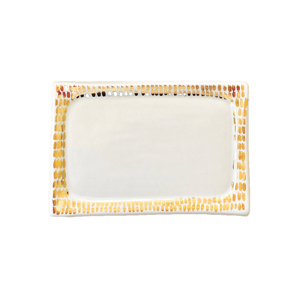 Small rectangular porcelain jewelry tray by Object Enthusiast