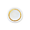 3 inch jewelry trinket dish made of white porcelain and gold