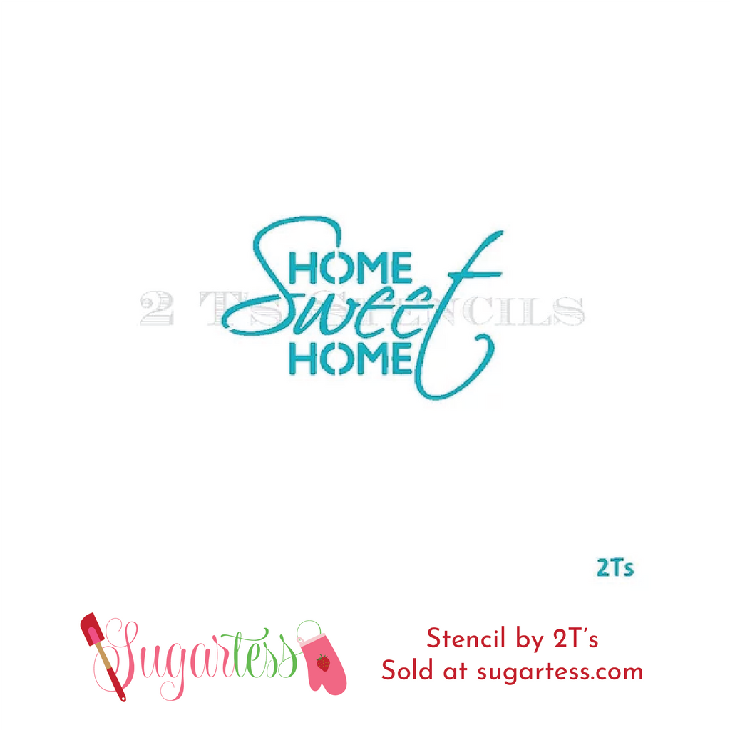 Cookie and cake decorating word or phrase stencil: Home Sweet Home