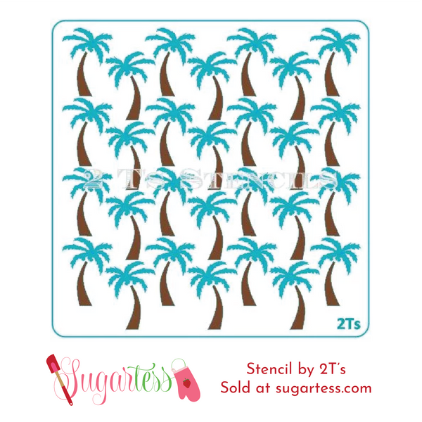 Cookie and cake decorating 2-part background set of palm trees.