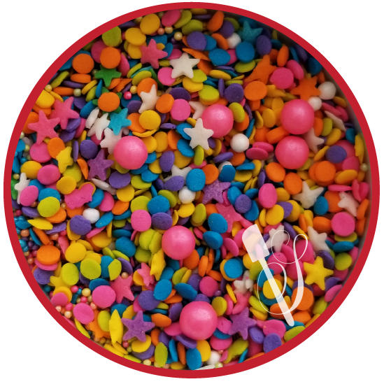 Sugartess Piñata Fun Celebration sprinkles mix.