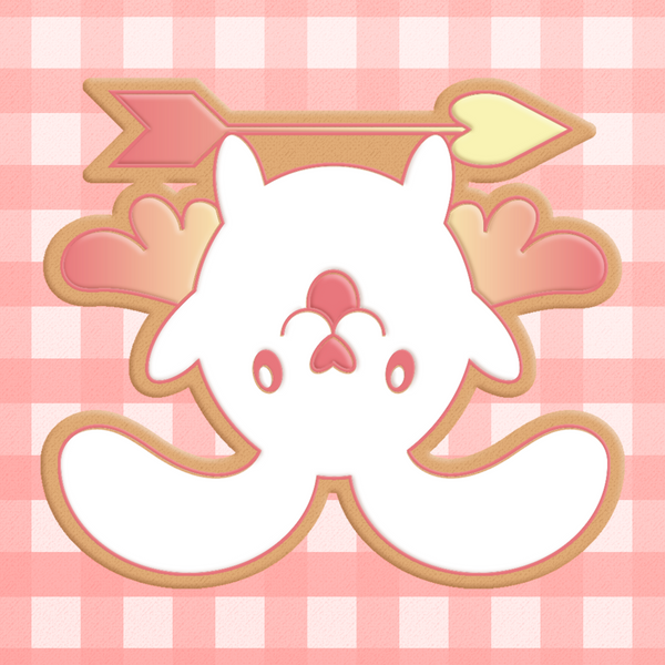 Sugartess cookie cutter in shape of chibi cupid bunny 2.