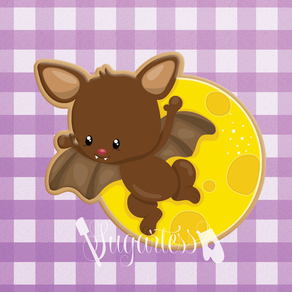 Choco-Bat Flying Past Moon