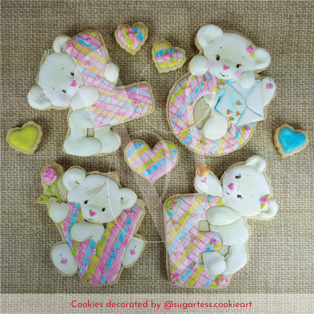 Valentine's Bear Love Word - Set of 4 Cookie Cutters