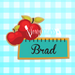 School Apple Plaque Name Tag 4