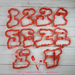 Sugartess cookie cutter in shape of   Convertible Word Numbers 1 to 10 Cookie Cutter - Half Set. 3D printed from biodegradable  PLA plastic in different sizes ranging from 2 to 6 inches.
