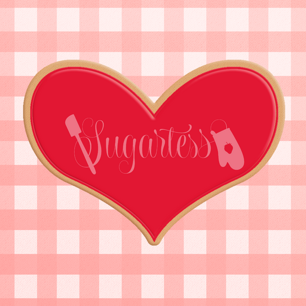 Sugartess cookie cutter in shape of Organic Heart  2. 3D printed from biodegradable  PLA plastic in diferent sizes ranging from 2 to 6 inches.