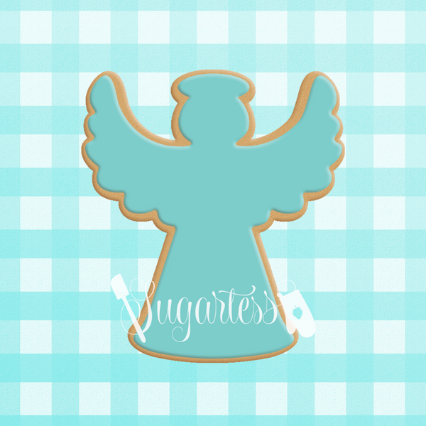 Sugartess cookie cutter in shape of  Angel#2 . 3D printed from biodegradable PLA plastic in diferent sizes ranging from 2 to 6 inches.