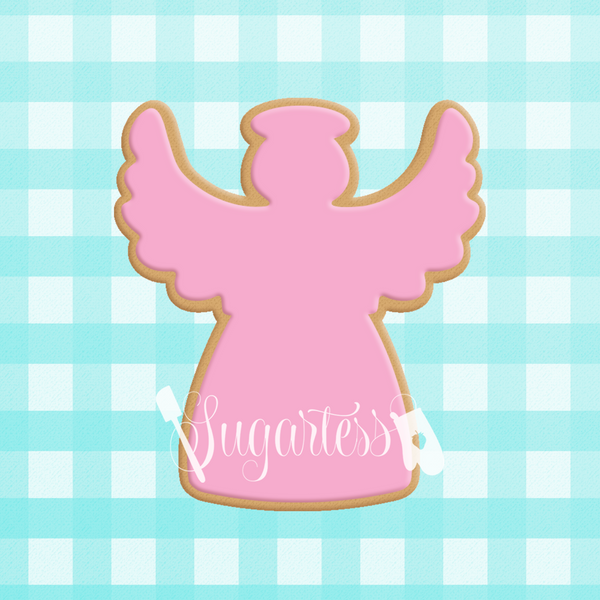 Sugartess cookie cutter in shape of  Angel#3 . 3D printed from biodegradable PLA plastic in diferent sizes ranging from 2 to 6 inches.