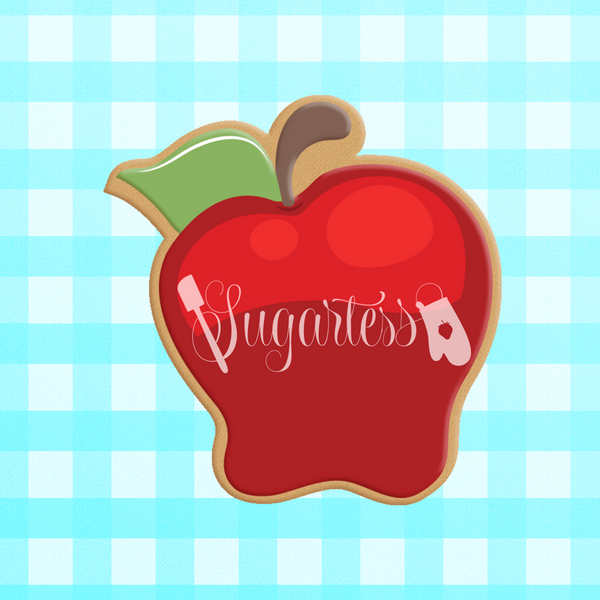 Sugartess cookie cutter in shape of Apple #2. 3D printed from biodegradable  PLA plastic in diferent sizes ranging from 2 to 6 inches.