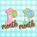 Sugartess cookie cutter in shape of   Baby Month Anniversary Number Cookie Cutter SET of 4. 3D printed from biodegradable  PLA plastic in different sizes ranging from 2 to 6 inches.
