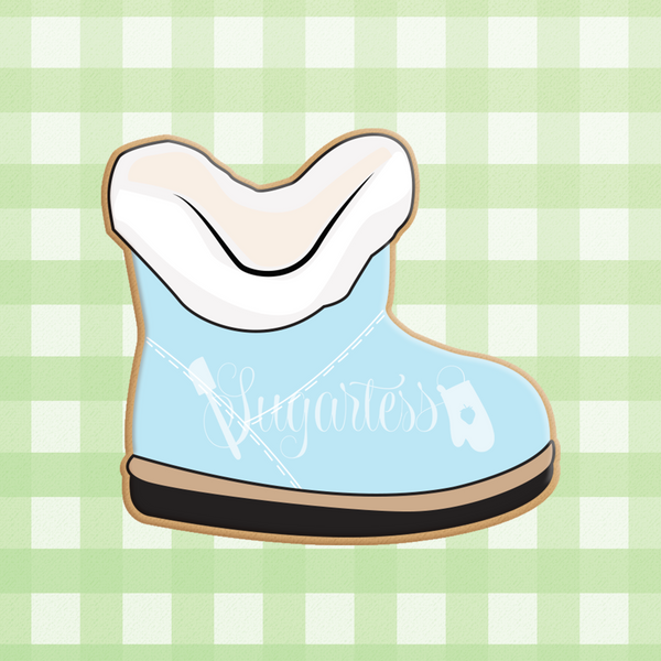 Sugartess custom cookie cutter in shape of a Baby Toddler Winter Suede Boot.