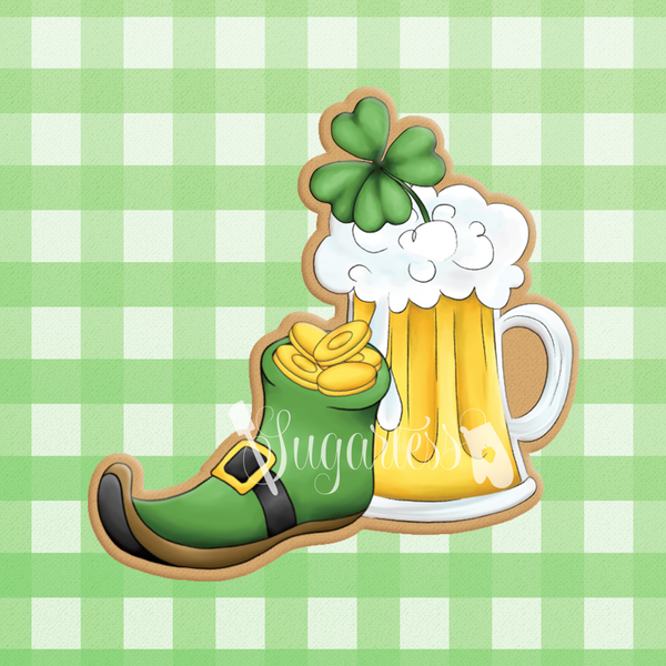 Leprechaun Shoe with Beer Mug