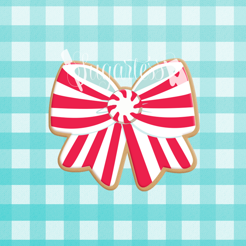 Sugartess custom cookie cutter in shape of chubby hair or decorative bow