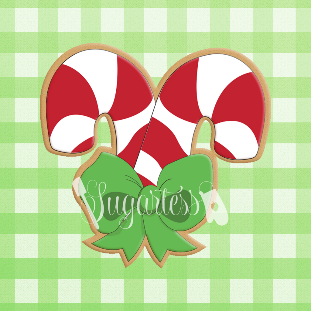 Chubby Candy Canes with Bow