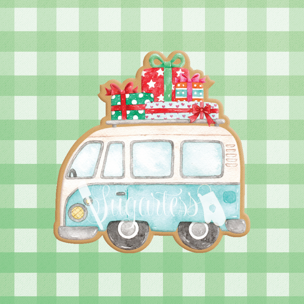 Holiday Vacation Van with Presents on Top