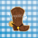 Cowboy Cowgirl Boots Cookie Cutter