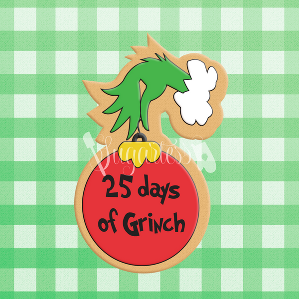 Grinch Hand Holding Christmas Tree Ornament Ball