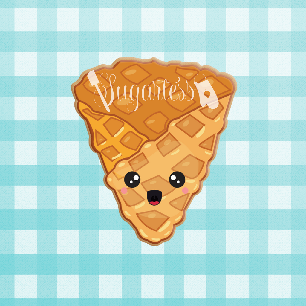 Sugartess custom cookie cutter in shape of kawaii waffle cone only.