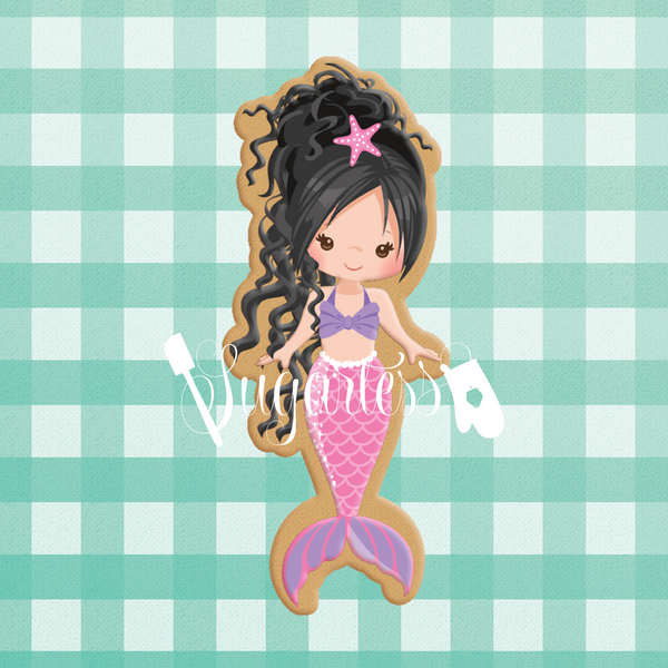 Sugartess custom cookie cutter in shape of mermaid #6.