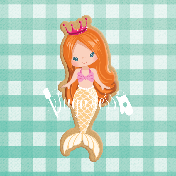 Sugartess custom cookie cutter in shape of mermaid #8.