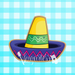 Fiesta Banner Plaque with Sombrero Cut-out Center