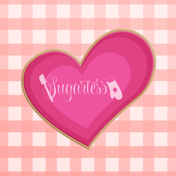 Sugartess custom cookie cutter in the shape of organic heart shape.