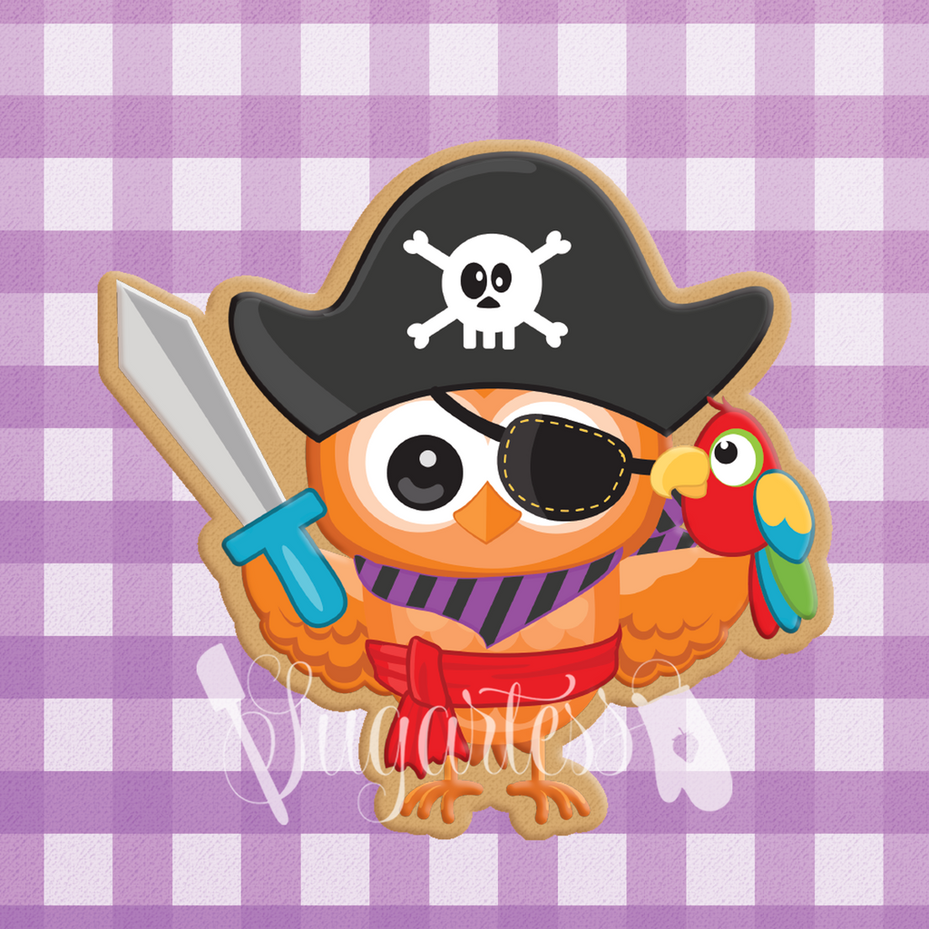 Owl in Pirate Costume