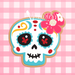 Sugartess custom cookie cutter in shape of floral mexican skull.