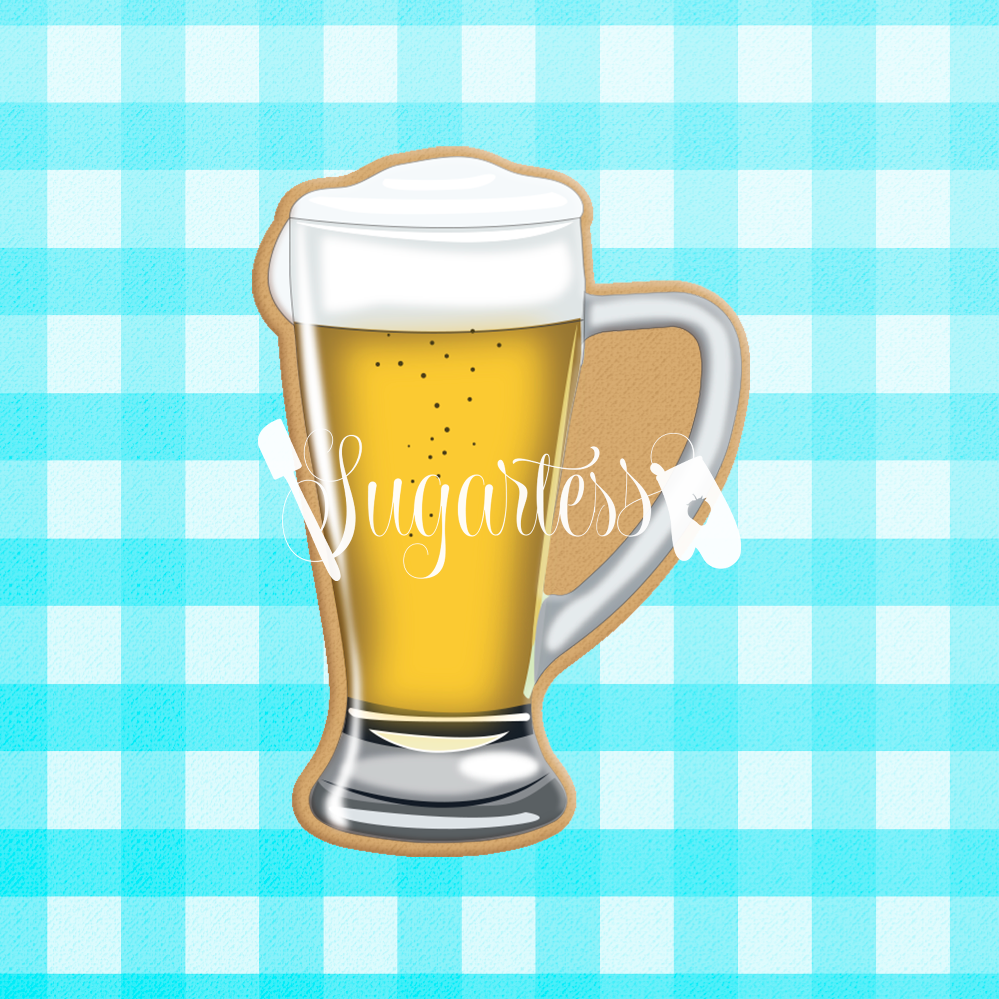 Stylish Beer Glass Mug Cookie Cutter Shopify Sugartess Cutters
