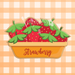 Sugartess custom cookie cutter in shape of strawberries inside a pie dish plate.