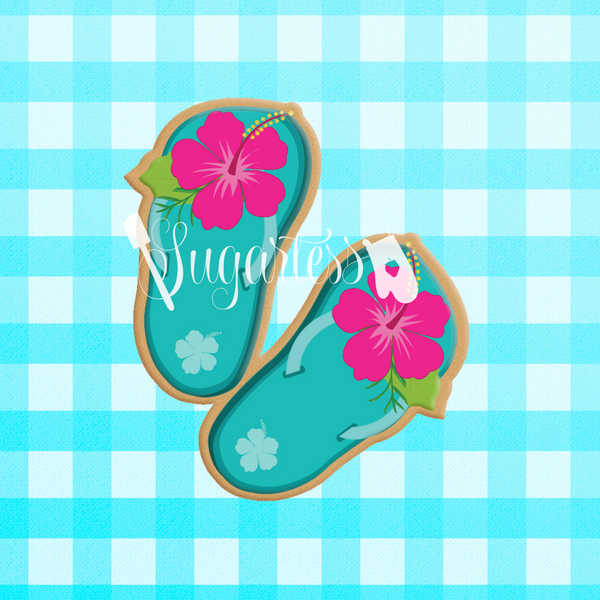 Chic Summer Flip Flops Cookie Cutter