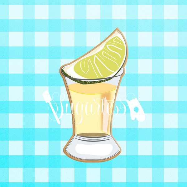 Tequila Shot Glass with Lemon