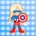 Sugartess custom cookie cutter in shape of America Girl super hero.