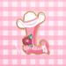 Sugartess custom cookie cutter in shape of floral western cowgirl font with letters, symbols and numbers with hat and rose.