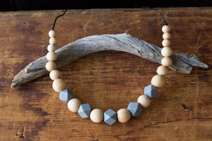 Wood and Silicon Hex Necklace by Chompy Chic