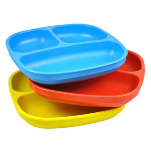 Re-Play Packaged Divided Plates, set of 3