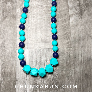 Necklace with Hexagons & Rounds by Chompy Chic