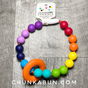 Baby Wearing Teething Accessory Rings by Chompy Chic