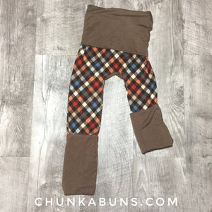 Autumn Plaid Maxaloones 6M-3T